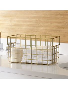 Brass Wire Basket Large by Crate&Barrel