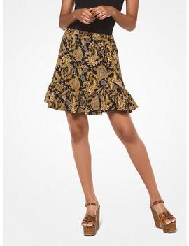 Paisley Crepe Skirt by Michael Michael Kors