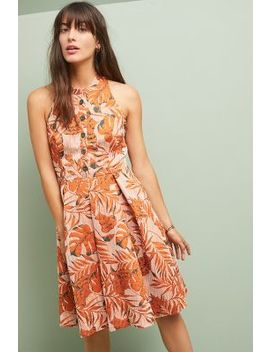 Palm Halter Dress by Eva Franco