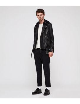 Renzo Leather Biker Jacket by Allsaints