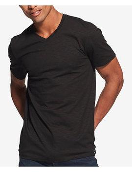 Men's Mercerized V Neck T Shirt, Created For Macy's by Dkny
