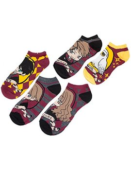 Harry Potter Kawaii Chibi Character Ankle Socks Five Pack by Harry Potter