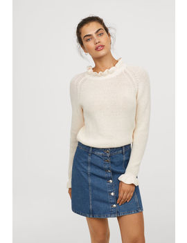 Knitted Frill Trimmed Jumper by H&M