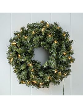 Led Light Up Canadian Pine Wreath by West Elm
