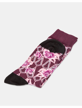 Floral Print Cotton Socks by Ted Baker