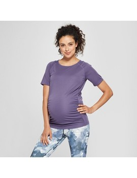 Maternity Active Short Sleeve T Shirt With Mesh   Isabel Maternity By Ingrid & Isabel™ by Isabel Maternity By Ingrid & Isabel