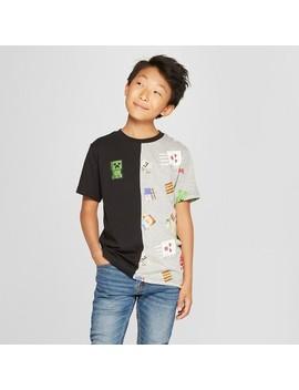 Boys' Minecraft Short Sleeve T Shirt   Black/Gray by Minecraft