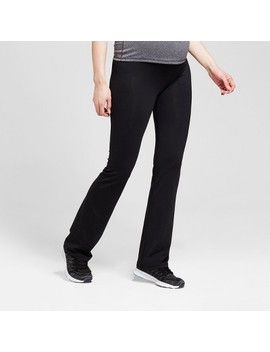 Maternity Crossover Panel® Active Bootcut Pants   Isabel Maternity™ By Ingrid & Isabel® Black by Isabel Maternity By Ingrid & Isabel