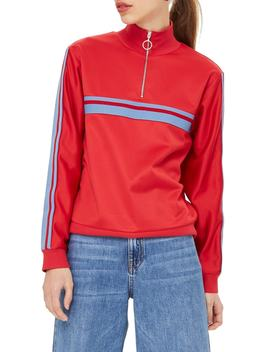 Sporty Track Top by Topshop