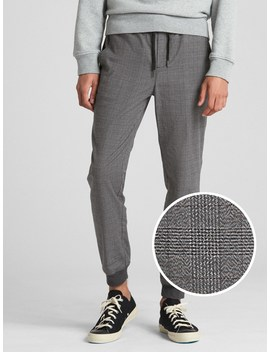 Plaid Twill Joggers With Gap Flex by Gap
