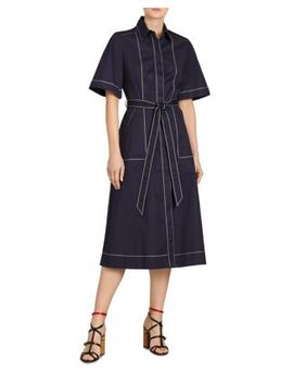 Carmen Topstitched Midi Shirt Dress by Burberry