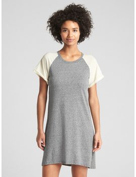 Short Sleeve Raglan Swing Dress by Gap