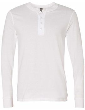 Bella + Canvas Mens Long Sleeve Jersey Henley (3150) by Canvas