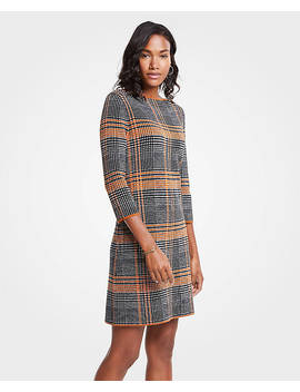 Petite Plaid Sweater Shift Dress by Ann Taylor