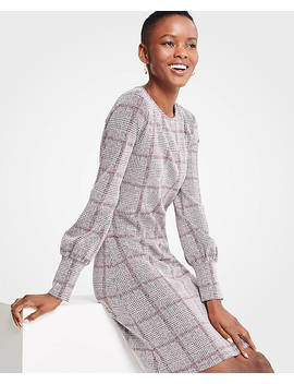 Petite Plaid Cuffed Dress by Ann Taylor