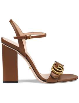 Leather Double G Sandals by Gucci