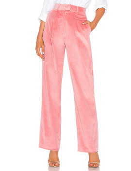 Corduroy High Waist Trouser by Lpa