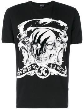 Skull Print T Shirt by Just Cavalli