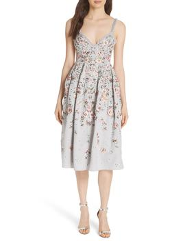 Butterfly Rose Fit & Flare Dress by Needle & Thread