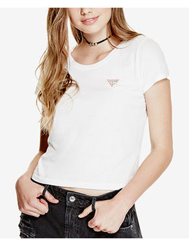 Crew Neck Logo T Shirt by Guess