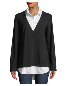 Samantha Popover Combo Shirt by Finley