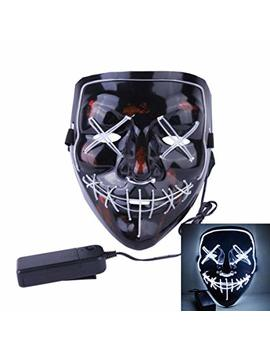 Anroll Halloween Mask Led Light Up Purge Mask For Festival Cosplay Halloween Costume by Anroll