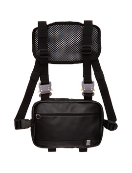 Black Mini Leather Chest Rig by Alyx