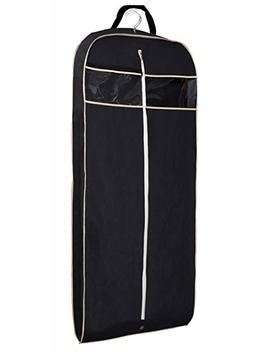 """Misslo 43"""" Gusseted Travel Garment Bag With Accessories Zipper Pocket Breathable Suit Garment Cover For Shirts Dresses Coats, Black by Misslo"""