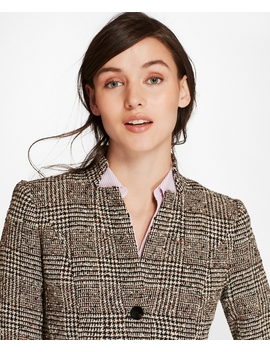 Petite Glen Plaid Tweed Jacket by Brooks Brothers