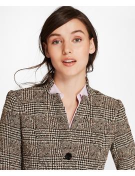 Petite Glen Plaid Tweed Jacket by Brooks Brothers