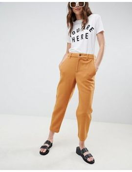 Asos Design Peg Pants In Felted Textured Fabric by Asos Design