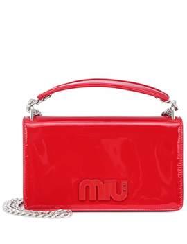 Patent Leather Shoulder Bag by Miu Miu