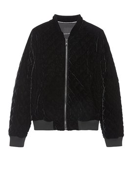 Velvet Quilted Bomber Jacket by Banana Repbulic