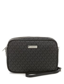 Large Jet Set Signature East/West Cross Body Bag by Michael Michael Kors