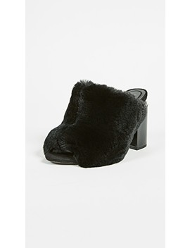 Avery Fur Mules by Alexander Wang