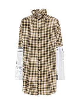 Checked Cotton Shirt by Balenciaga