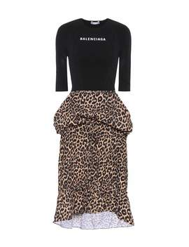 Jersey And Crêpe Dress by Balenciaga
