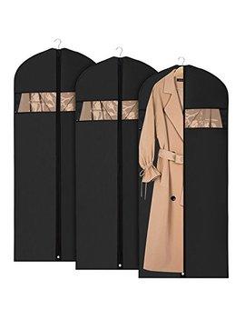 Univivi Garment Bag Suit Bag For Storage And Travel 60 Inch, Anti Moth Protector, Washable Suit Cover For Dresses,Suits,Coats,Set Of 3 by Univivi