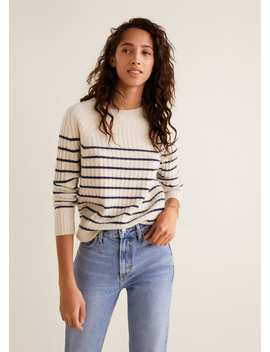 Striped 100% Cashmere Sweater by Mango