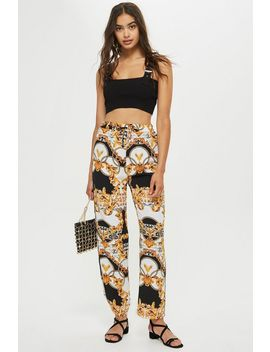 Chain Print Slouch Trousers by Topshop