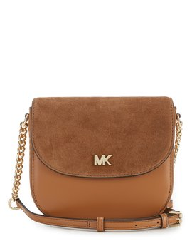 Half Dome With Suede Flap Cross Body Bag by Michael Michael Kors