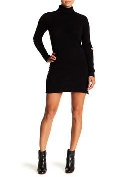 Lynk Mock Neck Cashmere Dress by 360 Cashmere