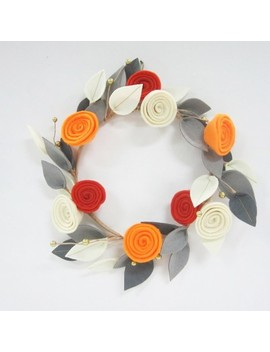 Halloween Floral Felt Wreath   Hyde And Eek! Boutique™ by Shop This Collection