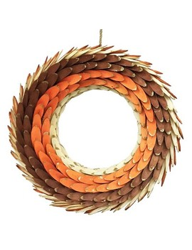 Harvest Wooden Wreath Orange/Brown by Shop This Collection