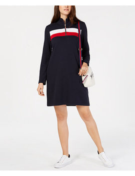 Colorblock Half Zip Dress, Created For Macy's by Tommy Hilfiger