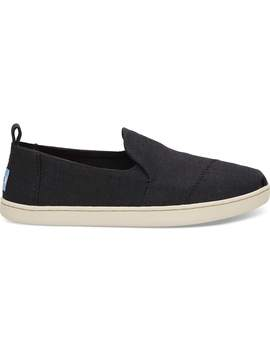 Black Heritage Canvas Women's Deconstructed Alpargatas by Toms