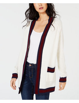 Varsity Stripe Cardigan Sweater, Created For Macy's by Maison Jules