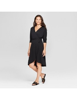 Women's Knit Wrap Midi Dress   A New Day™ by A New Day™
