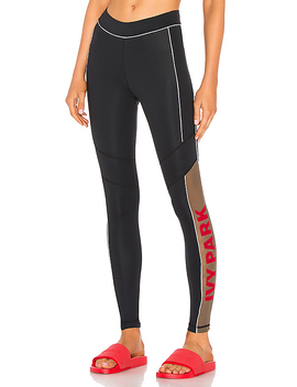 Sheer Flocked Active Logo Legging by Ivy Park