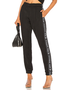 Sleek Logo Tape Track Pant by T By Alexander Wang
